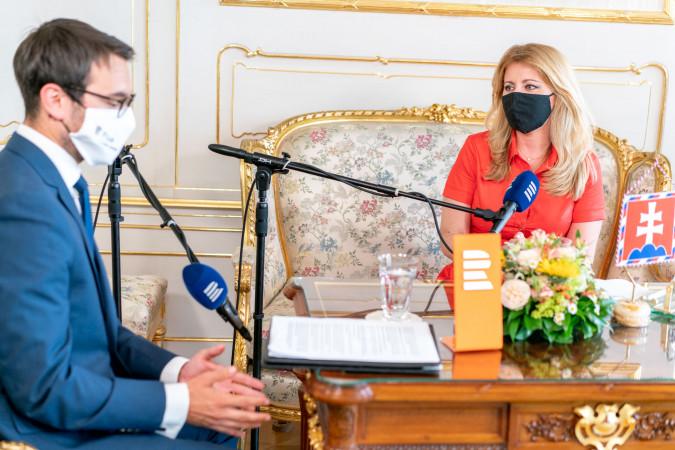 Zuzana_Caputova_a_Michael_Rozsypal_v_Interview_Plus_foto_Khalil_Baalbaki